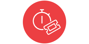 icon of ticket and timer